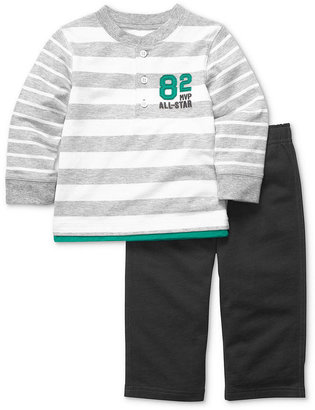 Carter's Baby Set, Baby Boys 2-Piece Striped Long-Sleeved Top and Pants