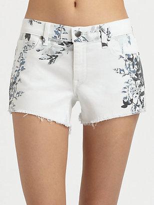 Genetic Denim Ivy Printed Mid-Rise Denim Shorts