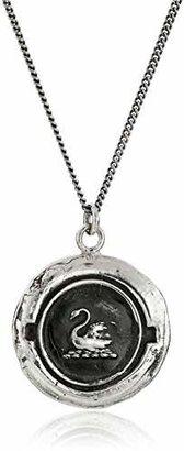 "Pyrrha talisman"" Sterling Silver Swan Pendant Necklace, 18"""