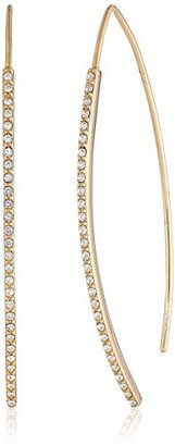 "Judith Jack ""Golden Class"" Gold-Plated Sterling Silver Crystal Thread-Through Drop Earrings $115 thestylecure.com"
