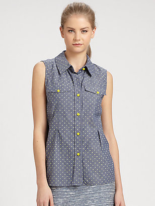 Marc by Marc Jacobs Dotty Chambray Shirt