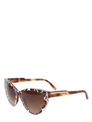 Stella McCartney Animal Print Cat Eye Acetate Sunglasses