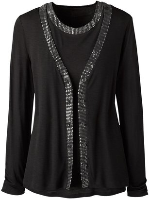 Coldwater Creek Sequin edged cardigan