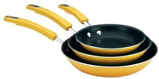 "Rachael Ray Porcelain Enamel II Nonstick Skillets, 3-pk, Yellow, 7.5"", 9.25"" & 11"""