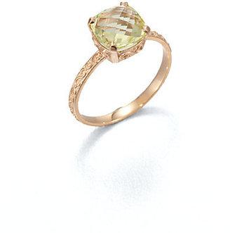 Suzanne Kalan KALAN by Lemon Quartz & 14K Rose Gold Ring