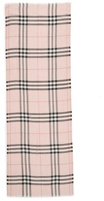 Women's Burberry Giant Check Print Wool & Silk Scarf $395 thestylecure.com