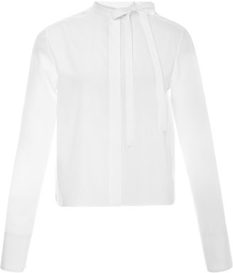 Valentino Bow-Detailed Cotton Blouse