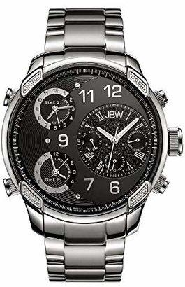 JBW Luxury Men's G4 J6248B 0.16 Karat Diamond Wrist Watch with Stainless Steel Link Bracelet