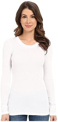 LAmade Long Sleeve Crewneck Thermal Top (Black) Women's Long Sleeve Pullover