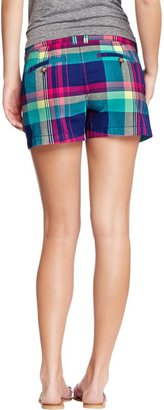 "Old Navy Women's Plaid-Print Madras Shorts (3-1/2"")"