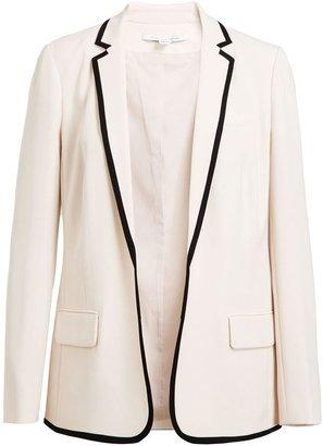Diane von Furstenberg Bridgett Tailored Crepe Blazer