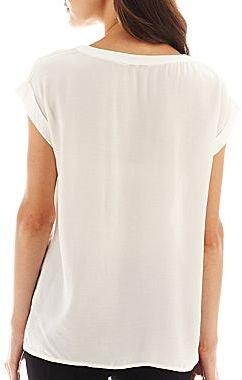 MNG by Mango Short-Sleeve Pocket Blouse