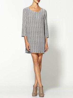 Joie Luanda Silk Herringbone Dress