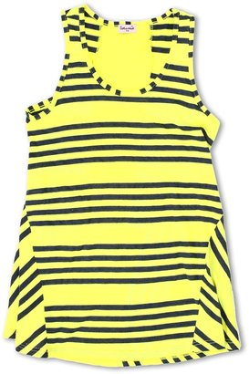 Splendid Littles Capri Stripe Tank Top (Big Kids) (Highlighter) - Apparel