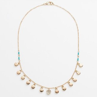 Lauren Conrad bead & disc necklace