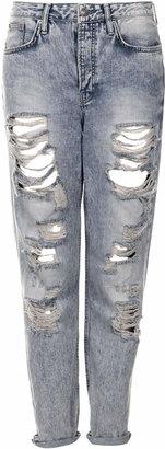 Topshop Moto bleach super rip hayden jeans
