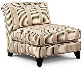 """Martha Stewart Fabric Armless Chair, Club Accent 32""""W x 39""""D x 35""""H"""