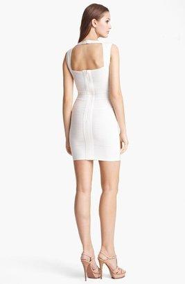 Herve Leger Women's Open Back Bandage Dress
