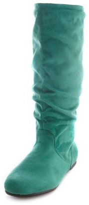 Charlotte Russe Flat Mid-Calf Slouch Boot