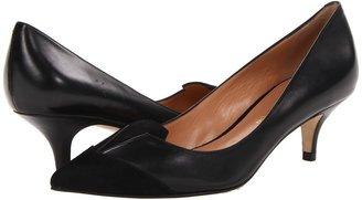 Sigerson Morrison Positive (Black Suede/Pewter) - Footwear