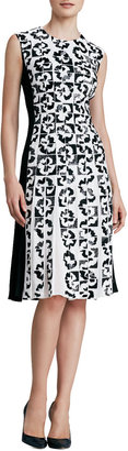 Carole Hochman DESIGN GROUP Sequined Floral Dress with Pleats
