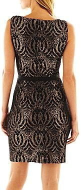 JCPenney Luxology Sleeveless Lace Dress