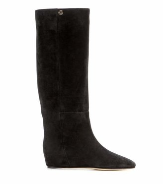 Jimmy Choo Olivia concealed wedge suede boots