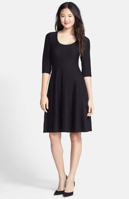 Nic+Zoe 'Twirl' Elbow Sleeve Knit Fit & Flare Dress