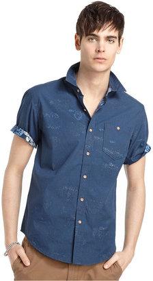 American Rag Varsity Shirt, Reverse Aloha Short Sleeve Shirt