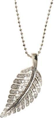 Jennifer Meyer Diamond Small Leaf Pendant Necklace