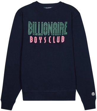 Billionaire Boys Club Navy Logo-print Cotton Sweatshirt