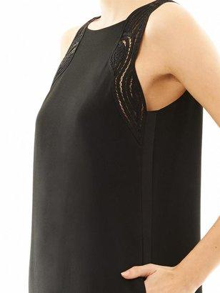 Vanessa Bruno Lace-detail crepe dress