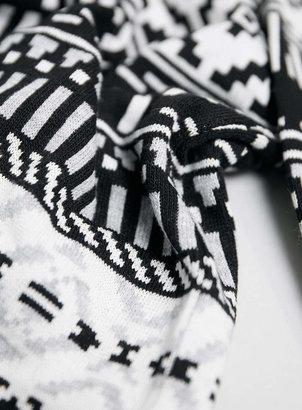 Topman Black And Grey Aztec Sweater
