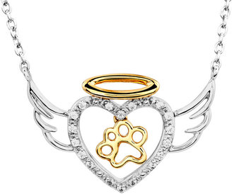 JCPenney FINE JEWELRY ASPCA Tender Voices 1/10 CT. T.W. Diamond Animal Angel Pendant Necklace
