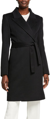 Fleurette Cashmere-Wool Wrap Coat
