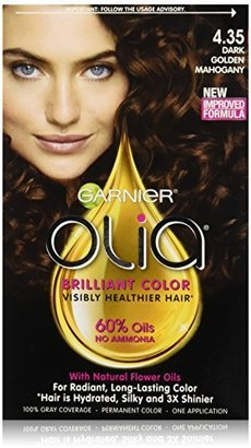 Garnier Olia Oil Powered Permanent Hair Color, 4.35 Dark Golden Mahogany (Packaging May Vary) $9.99 thestylecure.com