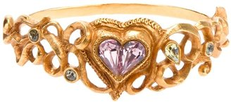 Christian Lacroix Vintage 'Glam Heart' cuff