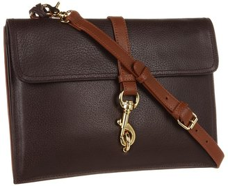 Badgley Mischka Juliette Cambridge Crossbody (Espresso/Cognac) - Bags and Luggage