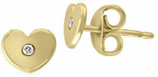 Effy D'Oro 14K Yellow Gold 0.02 TCW Diamond Earrings