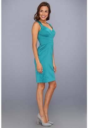 Jessica Simpson Sleeveless Sunburst Pintuck Dress