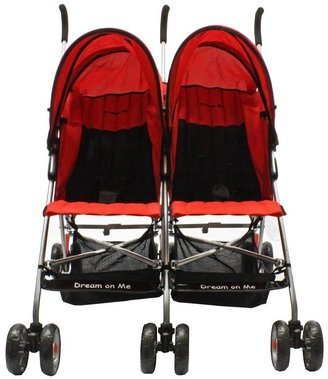 Dream On Me Twin Stroller - Red