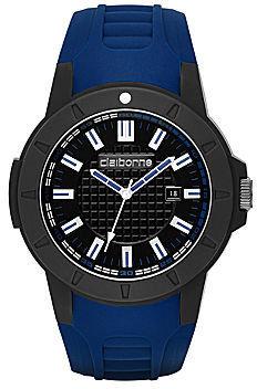 Claiborne Mens Round Color Accent Sport Watch
