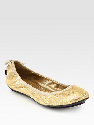 Cole Haan Air Bacara Metallic Leather & Suede Ballet Flats