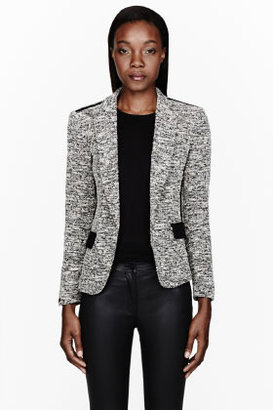 Rag and Bone RAG & BONE White slub Aviator Blazer