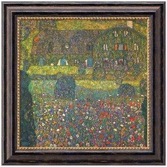 Gustav ''House In Attersee'' Framed Canvas Art by Klimt