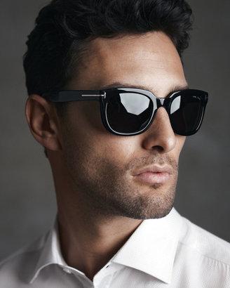 Tom Ford Campbell Plastic Sunglasses, Black