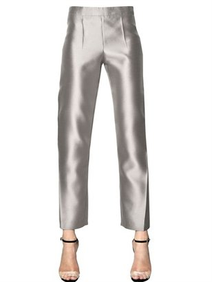 Giorgio Armani Heavy Techno Silk Organza Trousers
