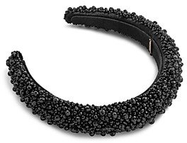 BaubleBar Becca Beaded Velvet & Faux Suede Headband