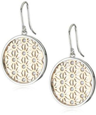 "Esprit Grace Rose"" White Cubic Zirconia Drop Earrings"