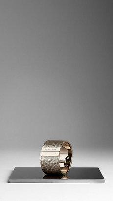 Burberry Metallic London Leather Cuff